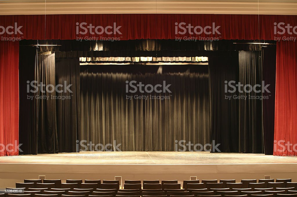 Stage Curtain 2 stock photo