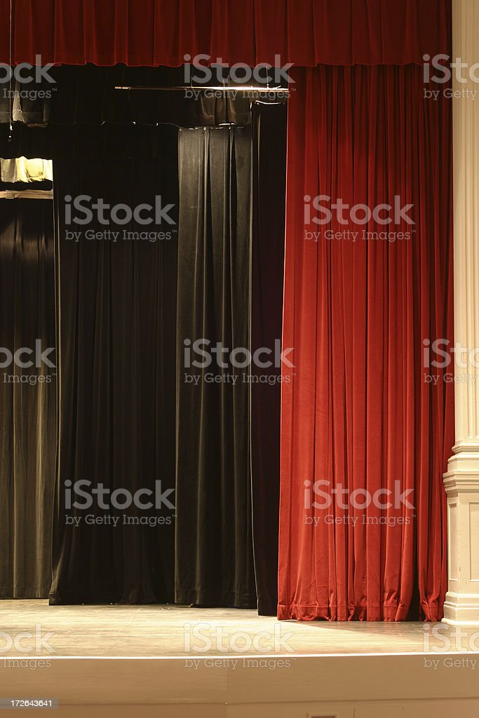 Stage Curtain 3 royalty-free stock photo
