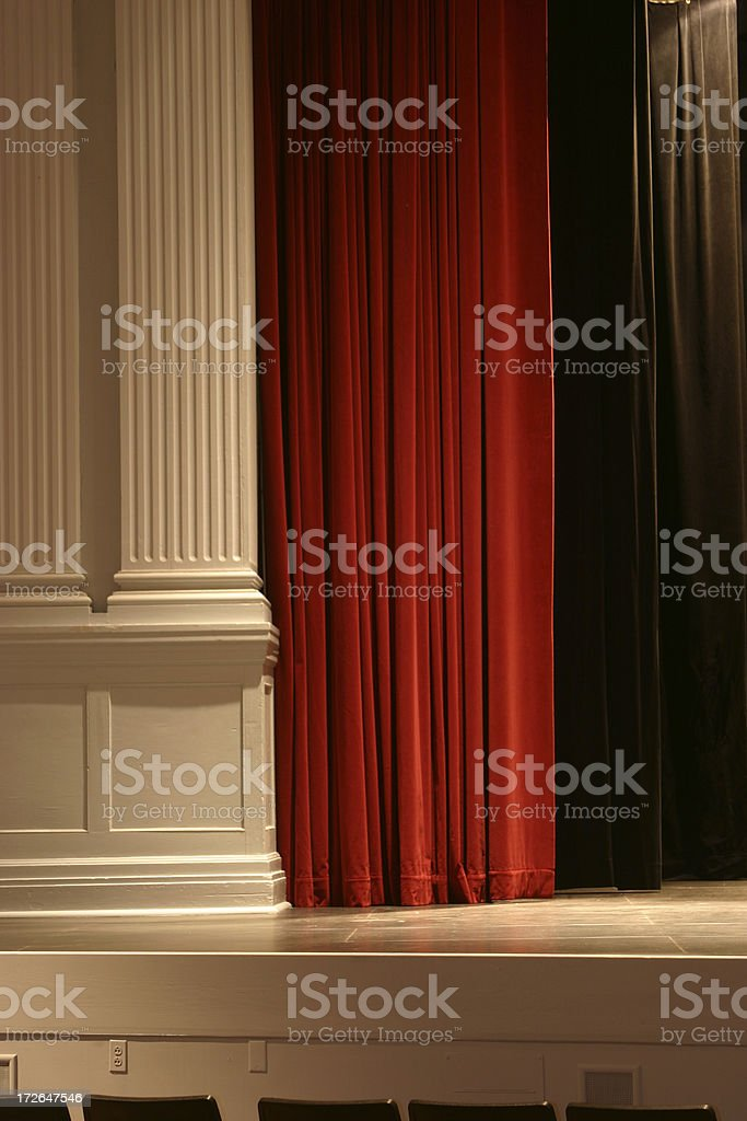 Stage Curtain 4 royalty-free stock photo