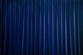 stage curtain blue velvet