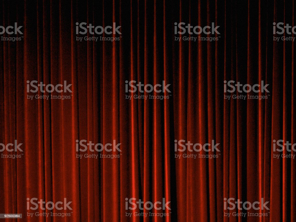 Stage Curtain royalty-free stock photo