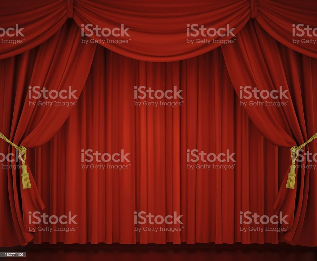 Stage Curtains royalty-free stock photo
