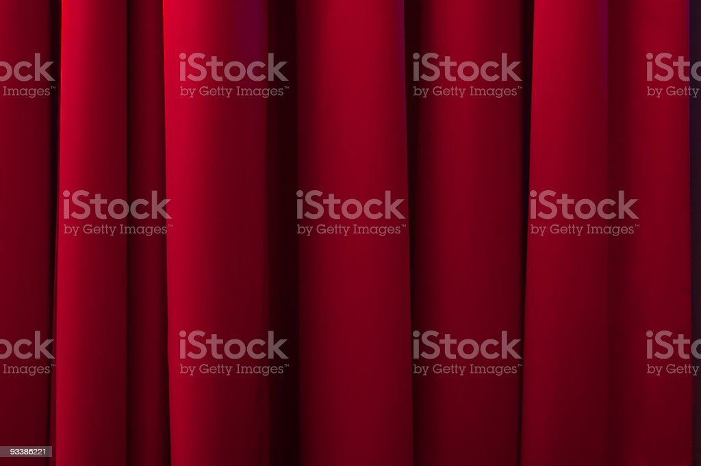 Stage curtains stock photo