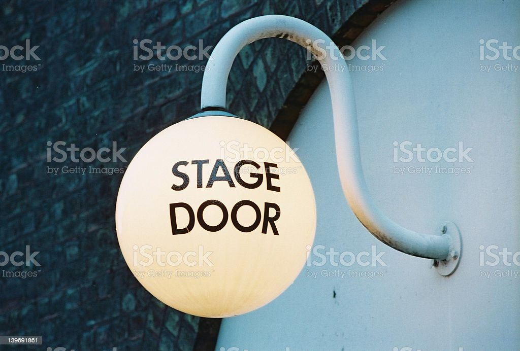 Stage Door Lamp royalty-free stock photo
