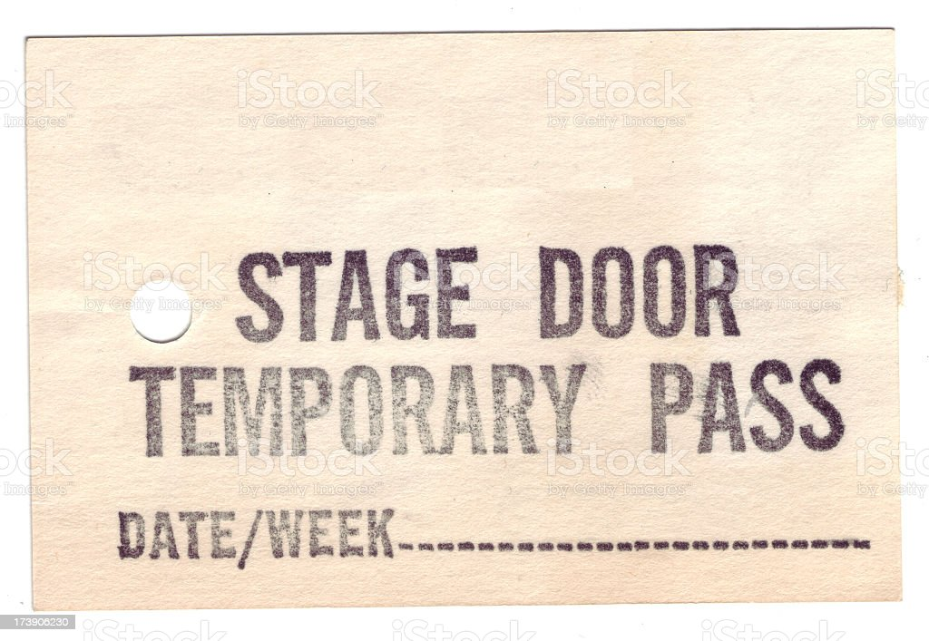 Stage door pass royalty-free stock photo