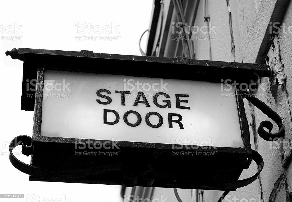 Stage Door royalty-free stock photo
