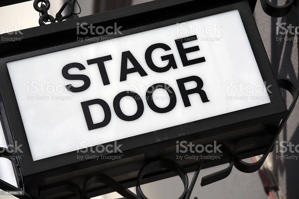 Stage Door sign royalty-free stock photo
