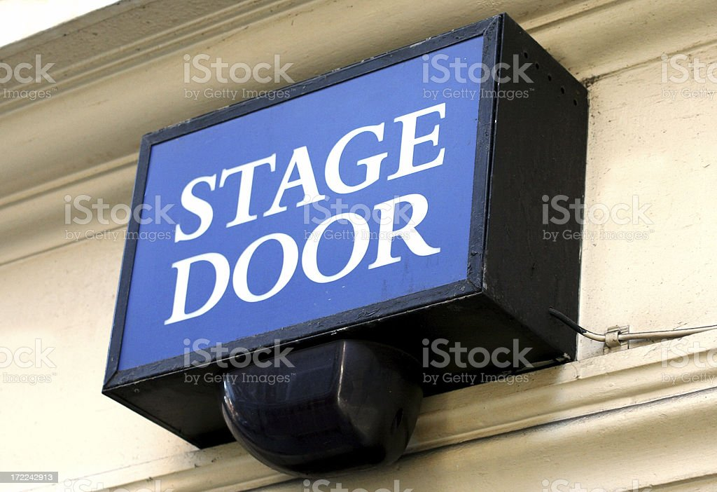 Stage Door - Theatre Entrance Sign royalty-free stock photo