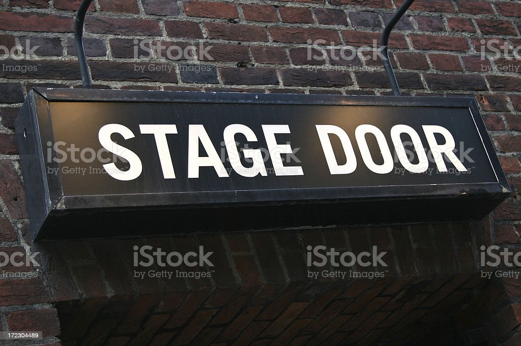 Stage Door - theatre royalty-free stock photo