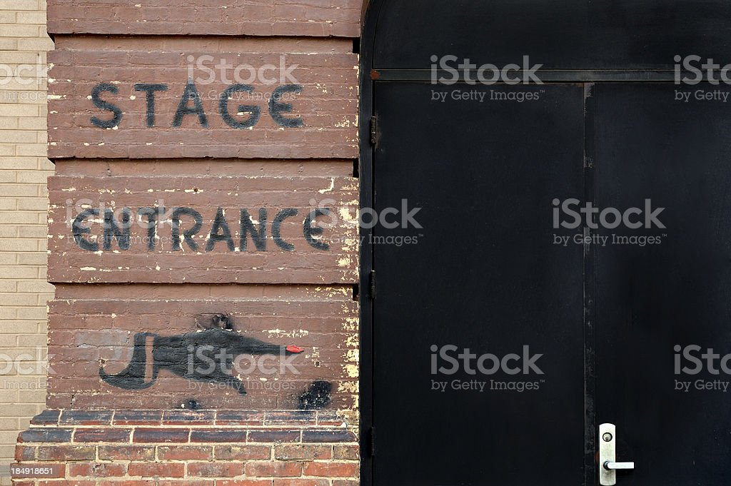 Stage Entrance royalty-free stock photo