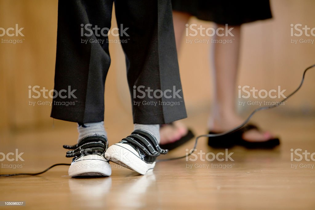 Stage Fright Legs stock photo