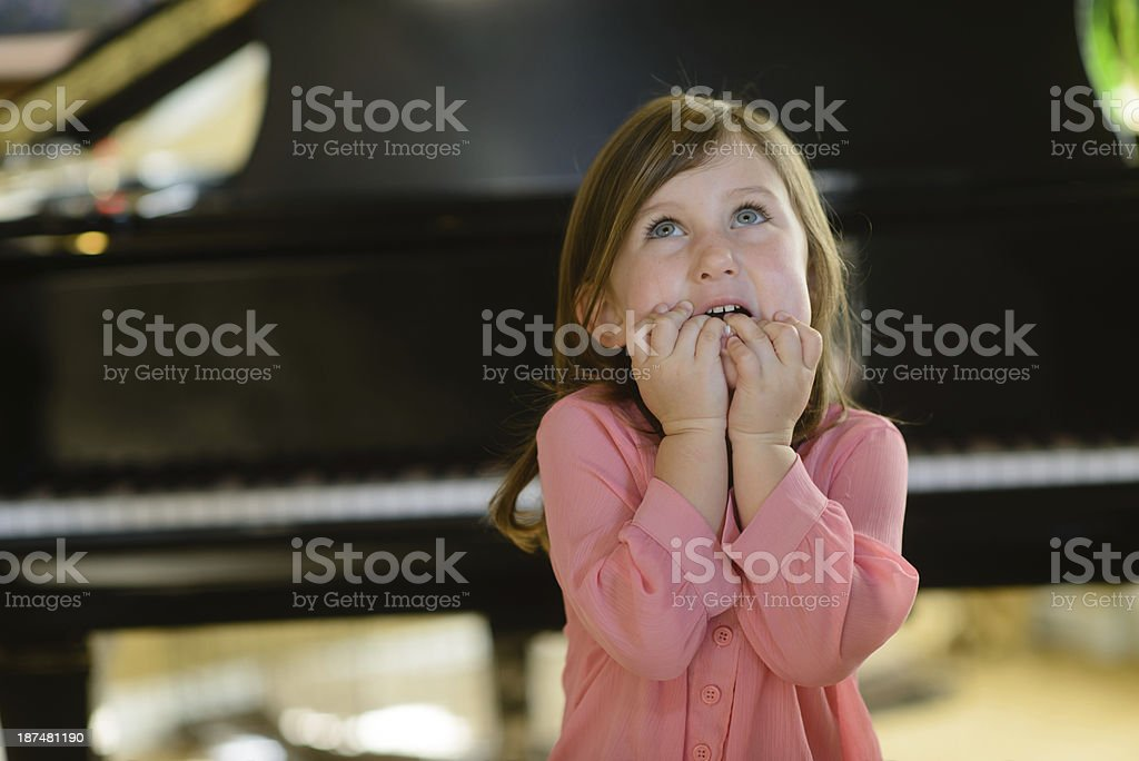 Stage Fright - Worried about Performing royalty-free stock photo