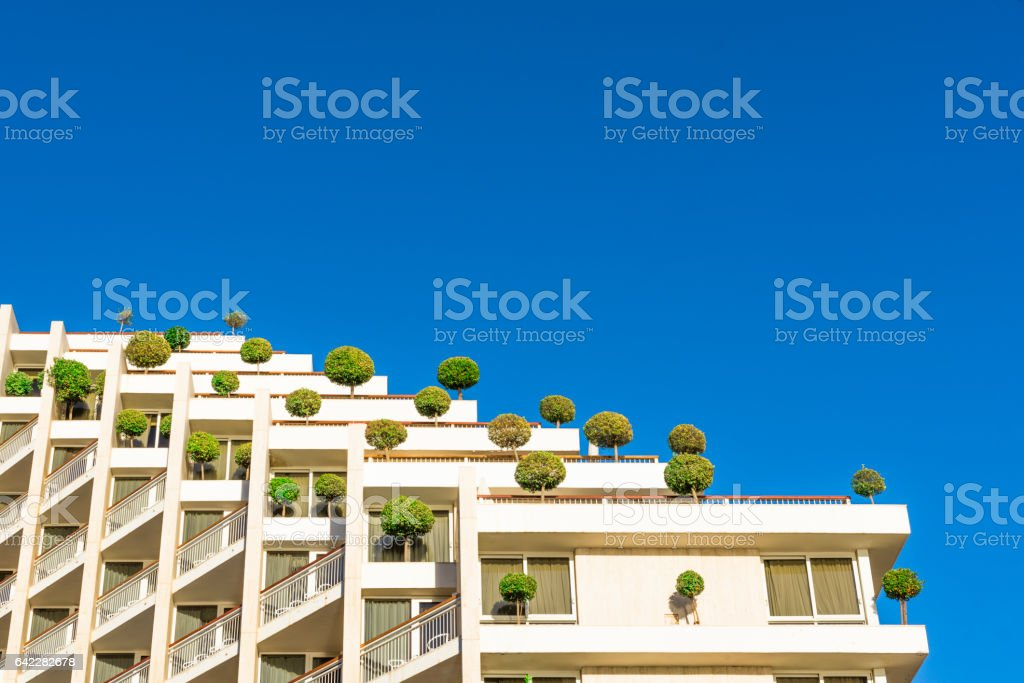 Stage in blue sky stock photo