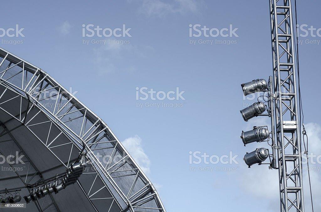 stage lighting equipment of concert stock photo
