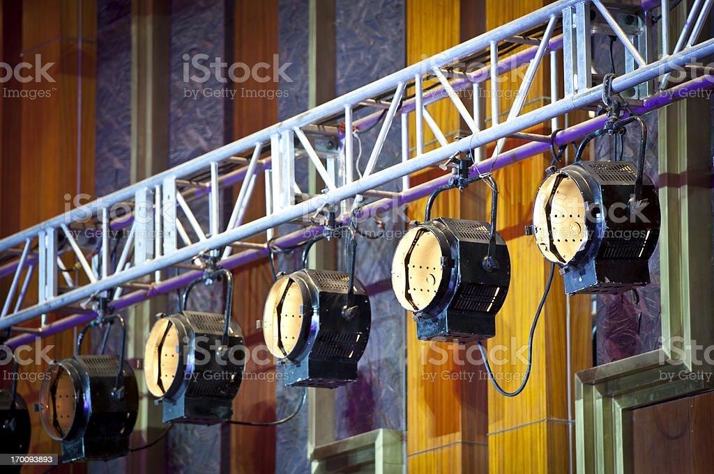 Stage Lighting Equipment royalty-free stock photo