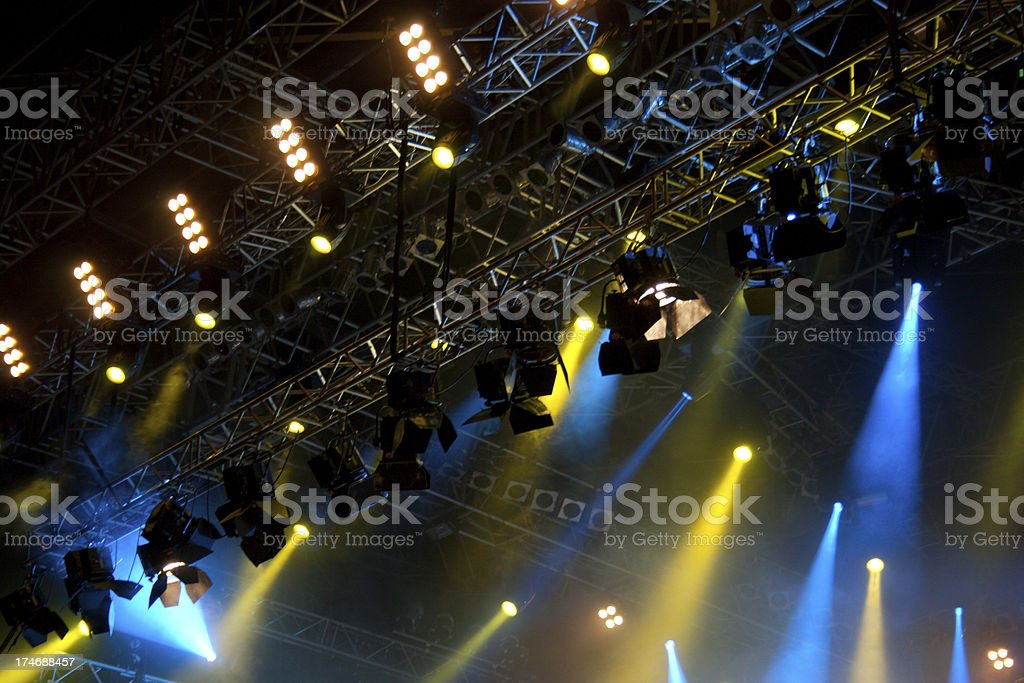 Stage lights on a concert royalty-free stock photo