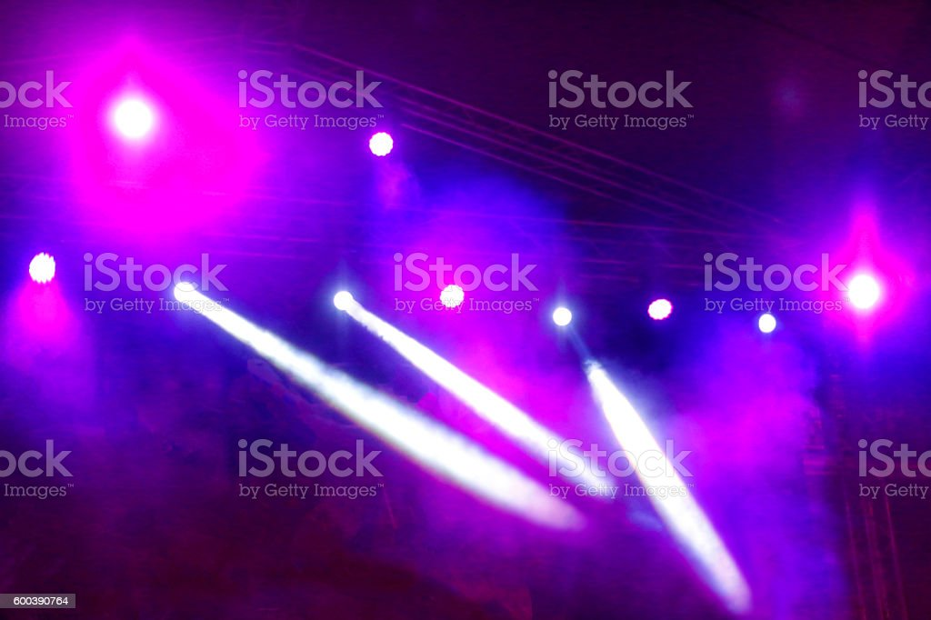 Stage lights stock photo