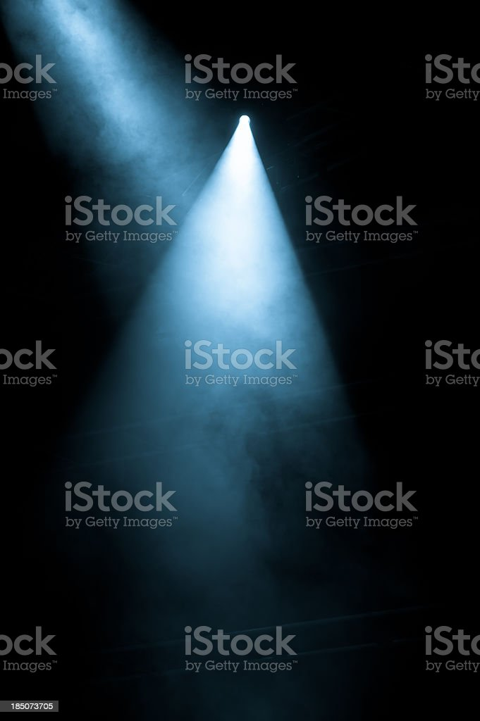 Stage Lights shining from a black background stock photo