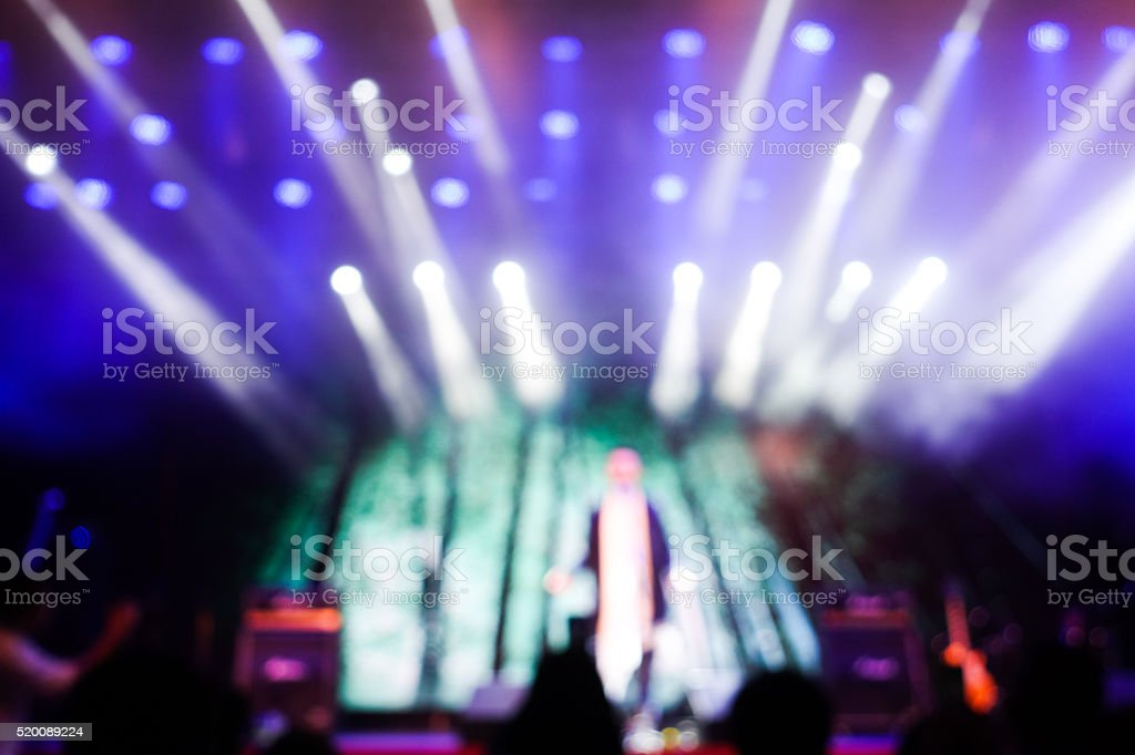 Stage lights/spotlights at the concert stock photo