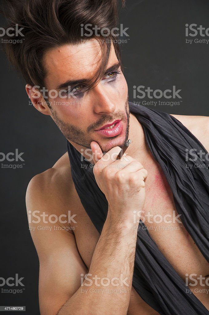 Stage man royalty-free stock photo