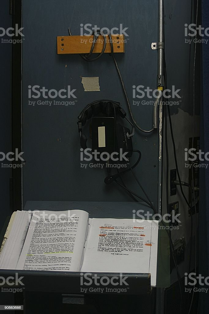 Stage Manager's Corner royalty-free stock photo