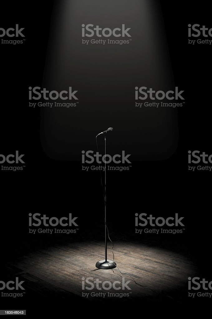 Stage Microphone royalty-free stock photo