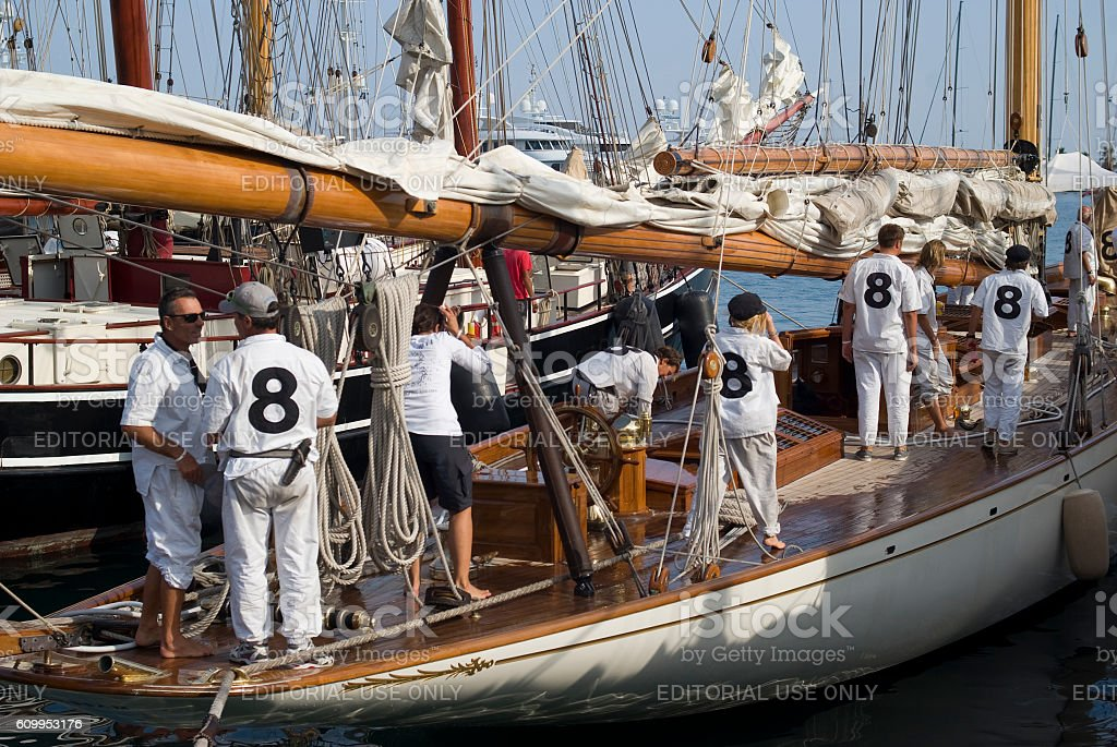 Stage of the Panerai Classic Yachts Challenge stock photo