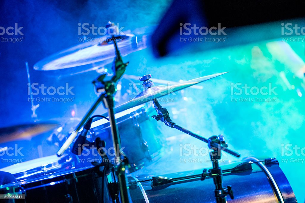 Stage on a rock concert stock photo