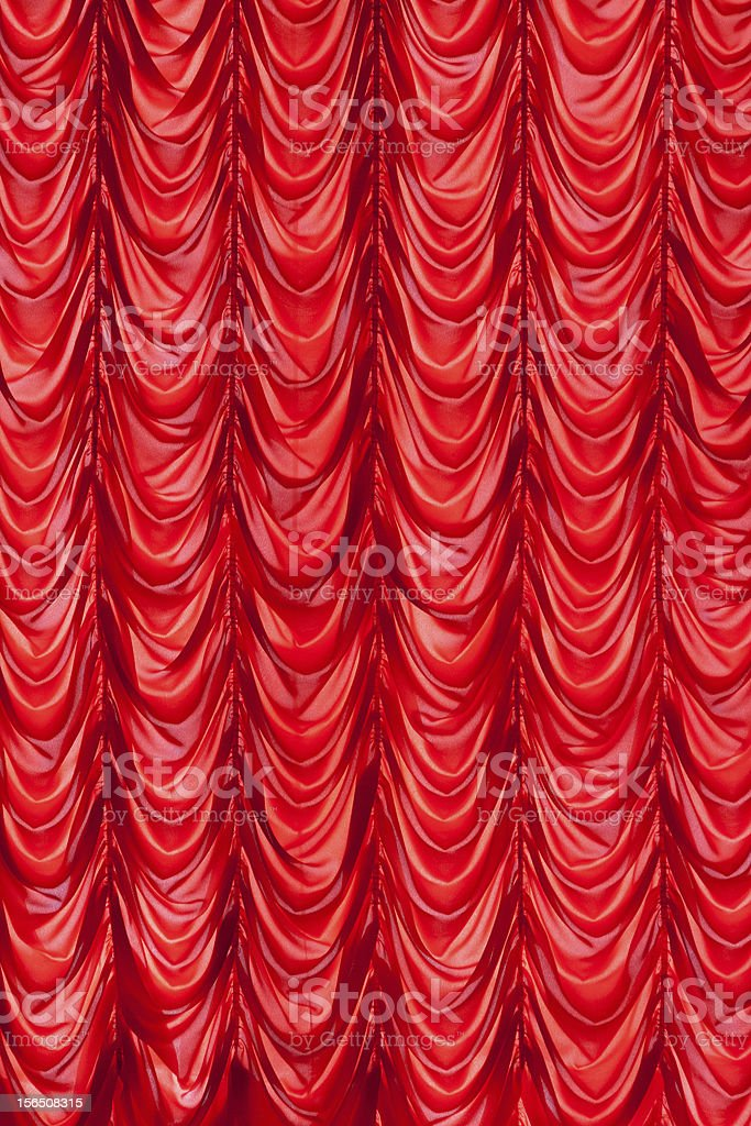 Stage red curtains royalty-free stock photo