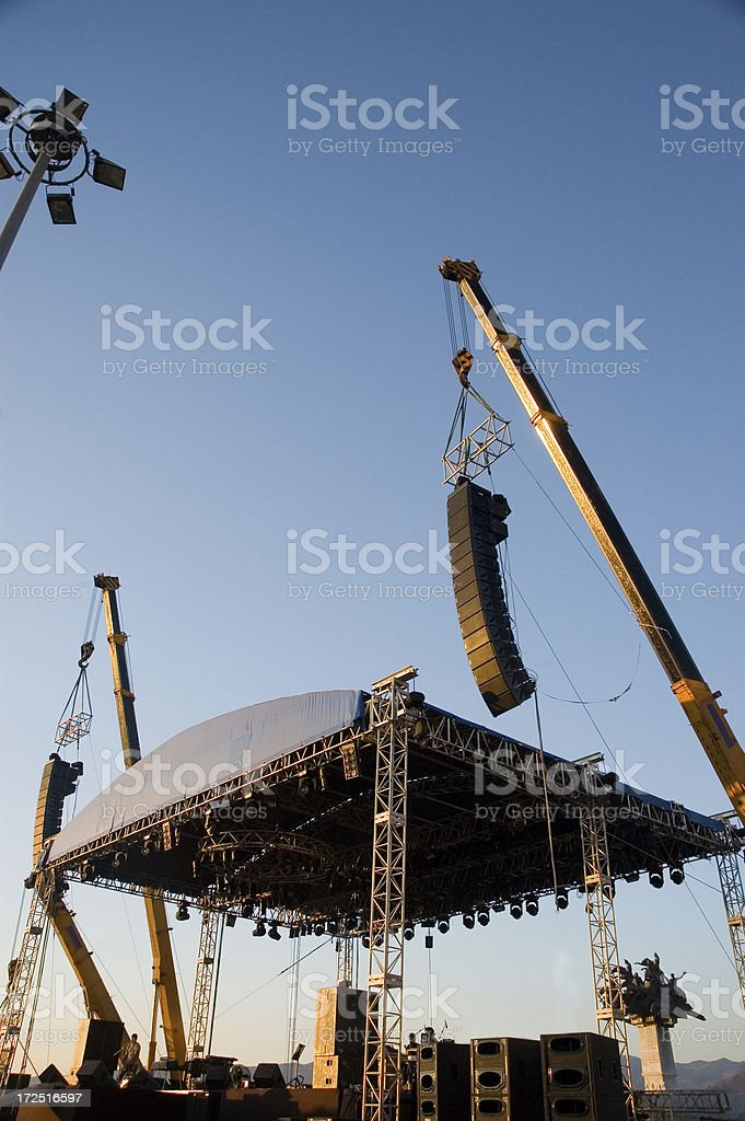 stage set royalty-free stock photo