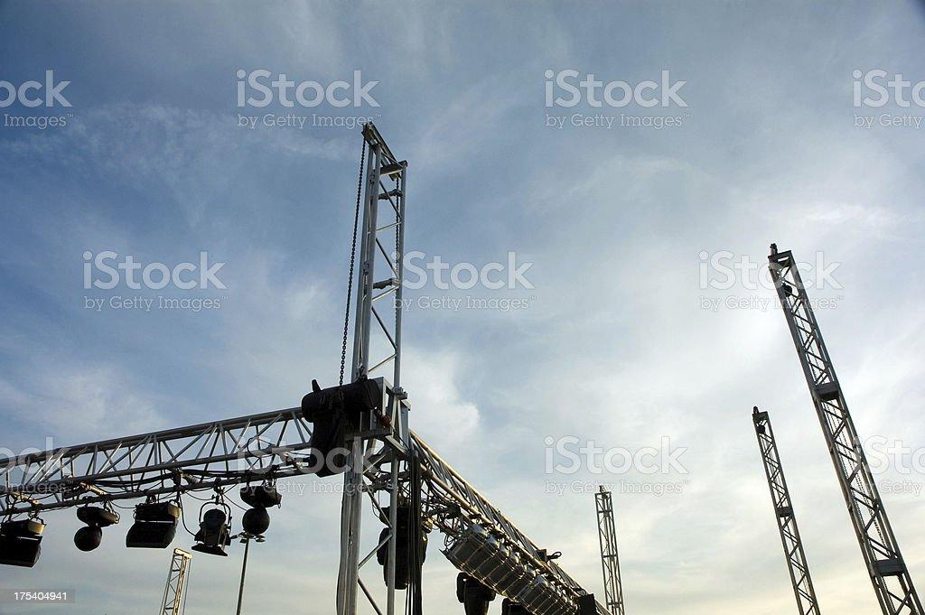 stage set stock photo