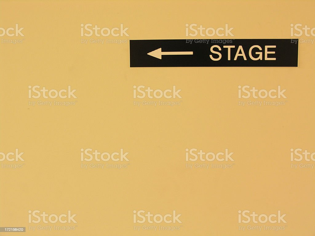 Stage Sign royalty-free stock photo