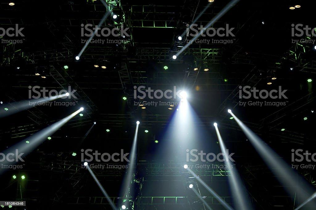 Stage Spotlight Beams stock photo