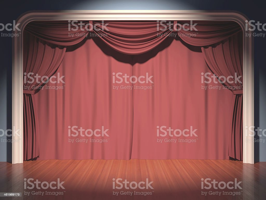 Stage Theater stock photo