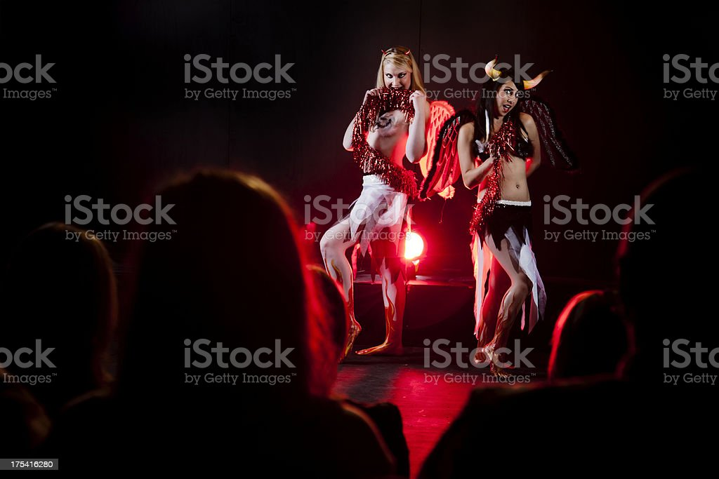 Stage theatrical performance stock photo
