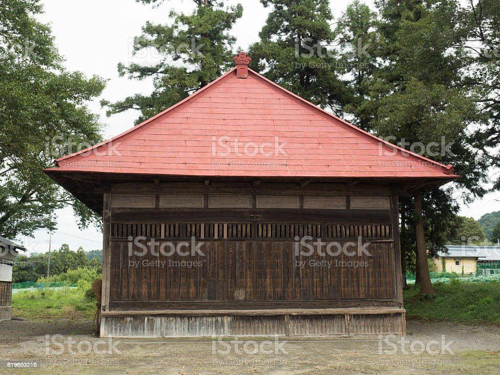 Stage transmitted from the Edo Period stock photo