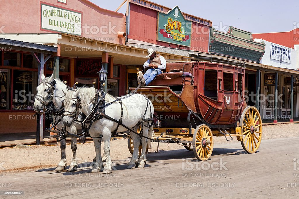 Stagecoach in Tombstone, Arizona stock photo