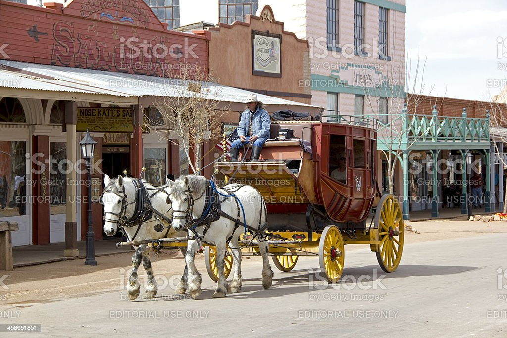 Stagecoach stock photo