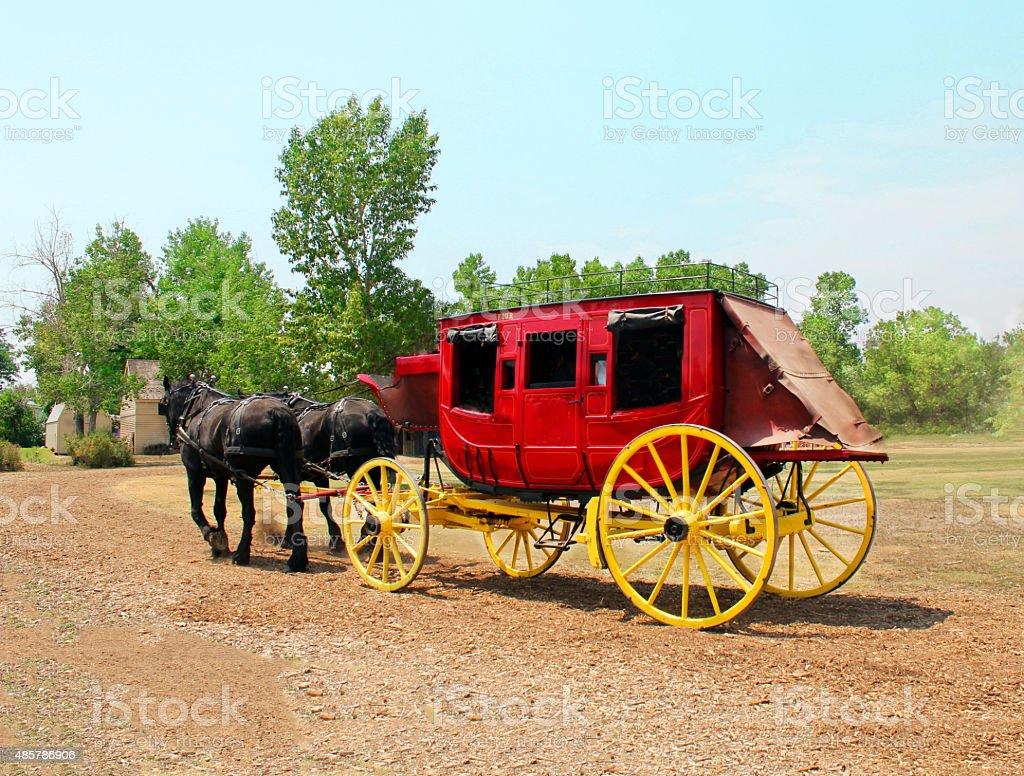 Stagecoach - Stock Image stock photo