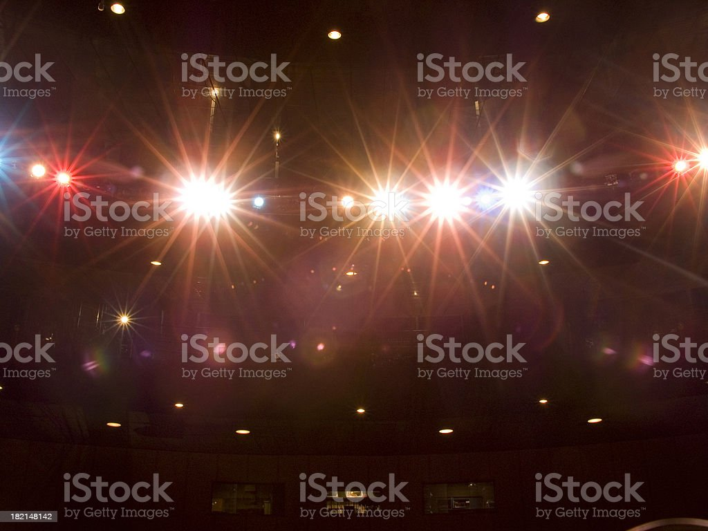 stagelights royalty-free stock photo