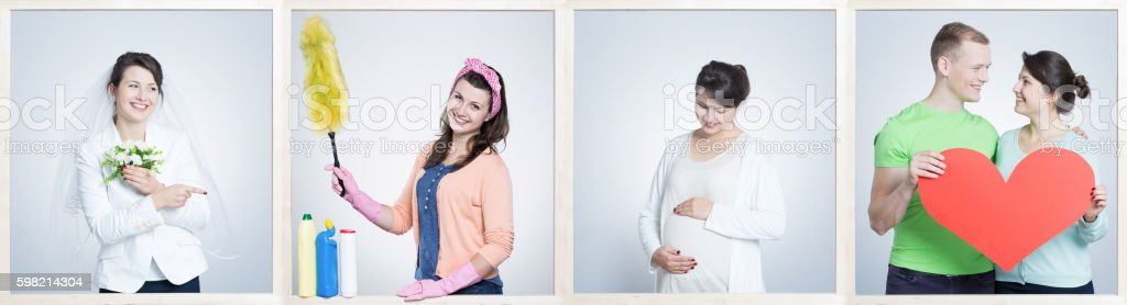 Stages of woman's life stock photo