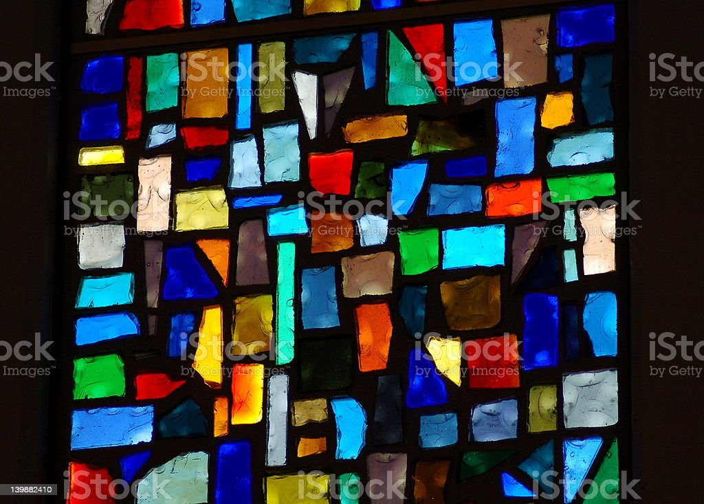 Stain glass stock photo