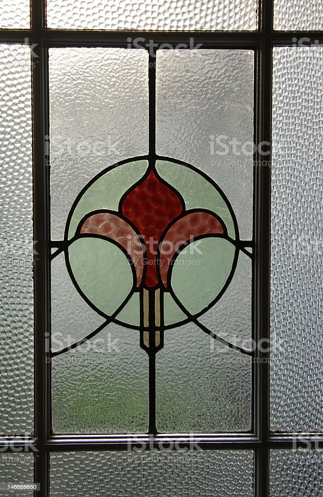 Stain glass window pane stock photo