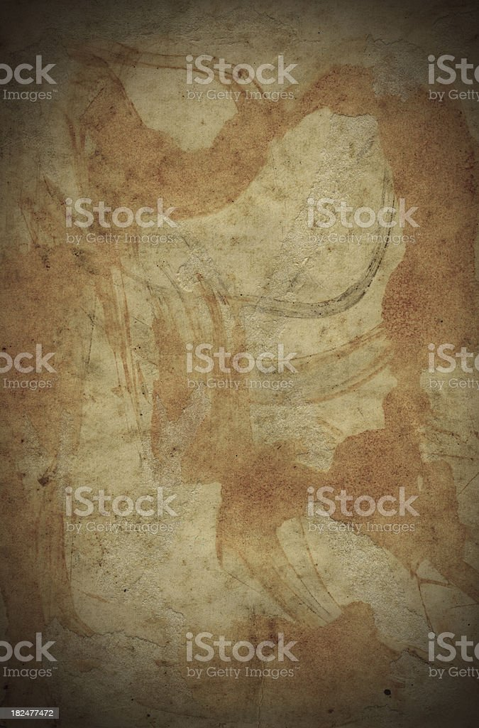stained and old grungy paper background royalty-free stock photo