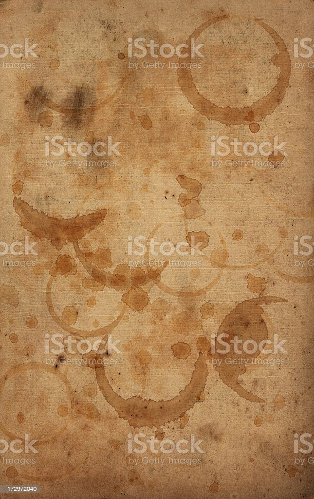 Stained and splashed paper stock photo