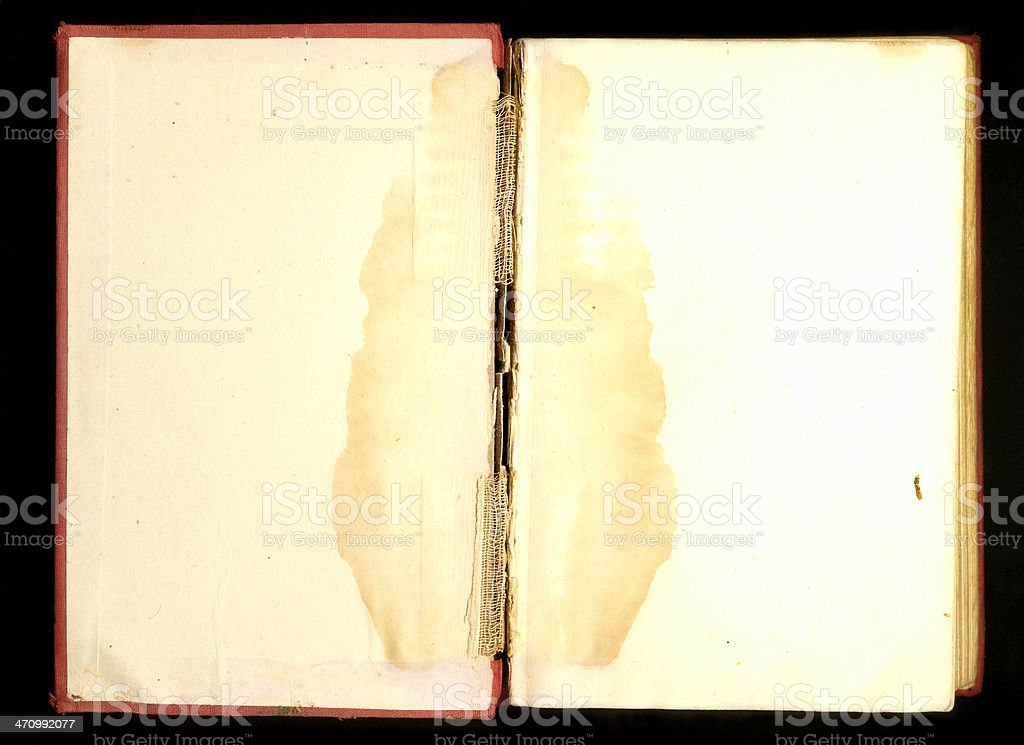 Stained Book Spread stock photo
