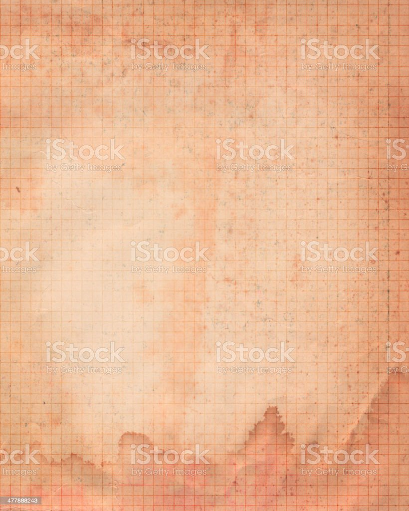 stained brown graph paper royalty-free stock photo