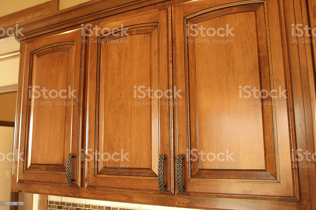 Stained Cabinets royalty-free stock photo