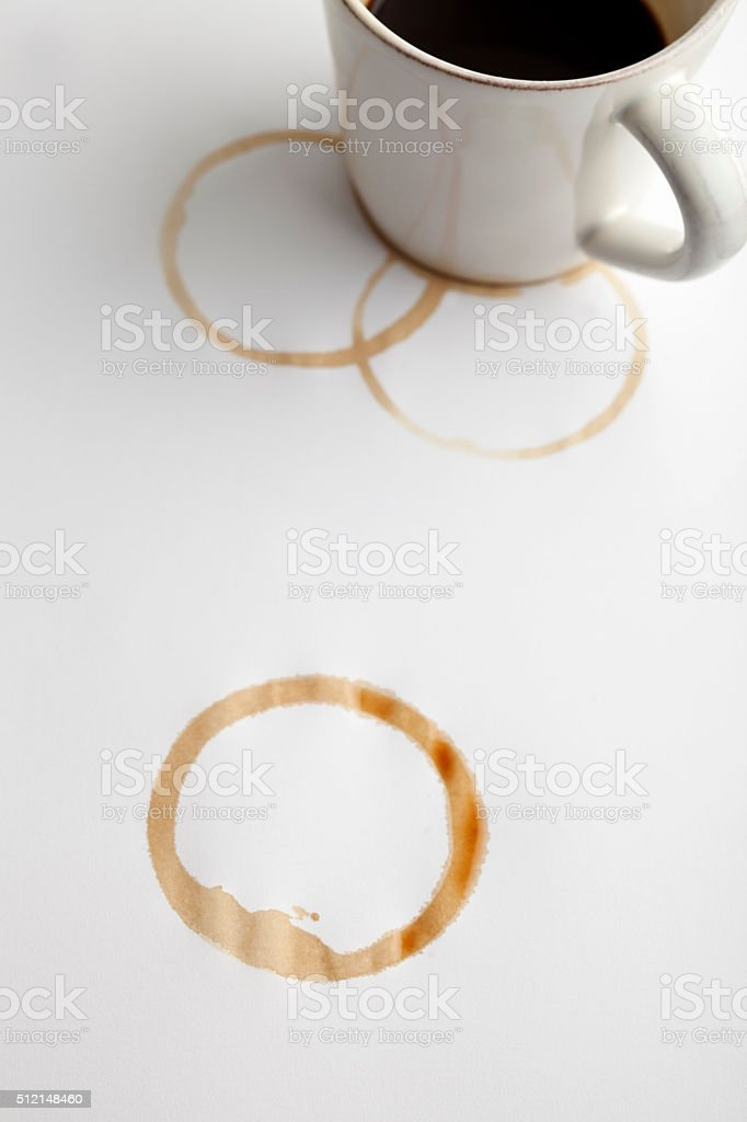 Stained, Coffee stock photo