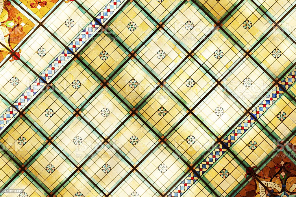 Stained Glass Ceiling royalty-free stock photo